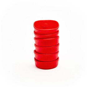 Wildo Fold-A-Cup Set d'autocollants Unicolore 6x, red